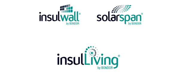 InsulLiving SolarSpan and the InsulWall by Bondor Logo's